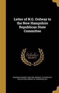 LETTER OF NG ORDWAY TO THE NEW