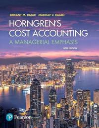 Horngren's Cost Accounting Plus Mylab Accounting with Pearson Etext -- Access Card Package