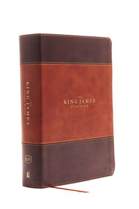 The King James Study Bible, Imitation Leather, Brown, Indexed, Full-Color Edition