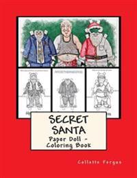 Secret Santa: Paper Doll - Coloring Book