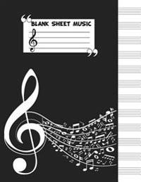 Blank Staff Paper: 12 Stave Blank Sheet Music - Music Manuscript Notebook - 8.5x11 - 104 Pages - (Composition Books - Blank Sheet Music B