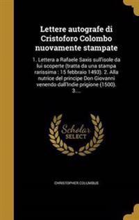 ITA-LETTERE AUTOGRAFE DI CRIST