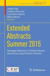 Extended Abstracts Summer 2015