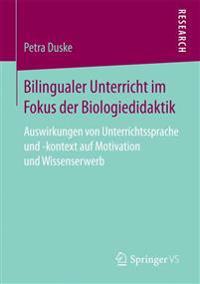 Bilingualer Unterricht Im Fokus Der Biologiedidaktik