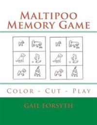 Maltipoo Memory Game: Color - Cut - Play