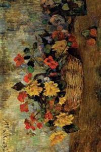 """Nasturtiums Dahlias in a Basket"" by Paul Gauguin - 1884: Journal (Blank / Lined"