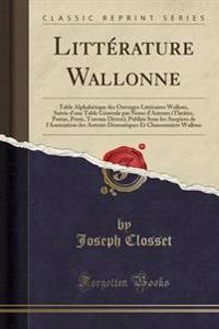 Litterature Wallonne