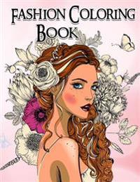 Fashion Coloring Book. Grayscale Coloring Book: Coloring Book for Adults