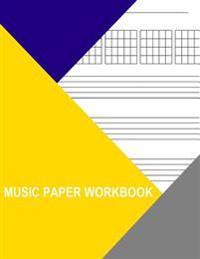 Music Paper Workbook: Guitar Tablature with Chord Symbols