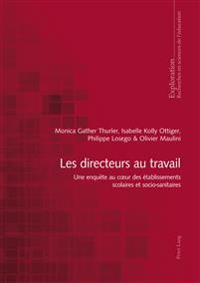 Les Directeurs Au Travail: Une Enquète Au Coeur Des Établissements Scolaires Et Socio-Sanitaires