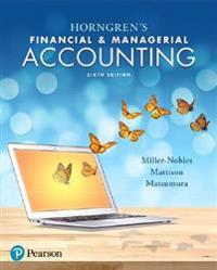 Horngren's Financial & Managerial Accounting Plus Mylab Accounting with Pearson Etext -- Access Card Package