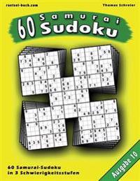 60 Samurai-Sudoku, Ausgabe 10: 60 Gemischte Samurai-Sudoku, Ausgabe 10