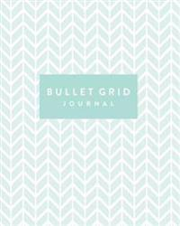 Bullet Grid Journal: Mint Green, 150 Dot Grid Pages, 8x10, Professionally Designed