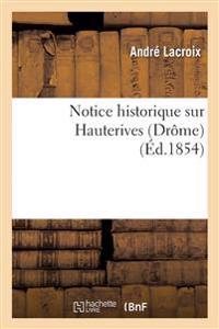 Notice Historique Sur Hauterives Dr�me