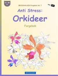Brockhausen Fargebok Vol. 7 - Anti Stress: Orkideer: Fargebok