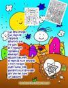Lær Med Joseph Lær Engelsk Fargebok Aktivitets BOK for Barn 23 Tegninger Opprinnelig Håndlaget Inkludert Hilsener På Engelsk Eller Hebraisk + Ferie Fe