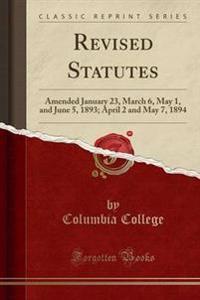 Revised Statutes