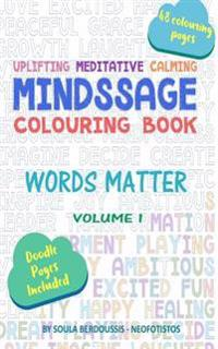 Mindssage Colouring Book Travel Size: Words Matter