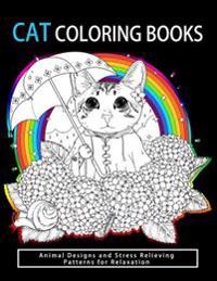 Cat Coloring Books: Cats & Kittens for Comfort & Creativity for Adults, Kids and Girls