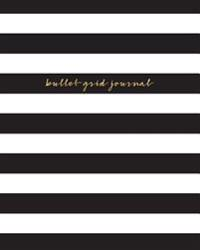 Bullet Grid Journal: Stripes, 150 Dot Grid Pages, 8x10, Professionally Designed