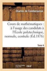 Cours de Math�matiques