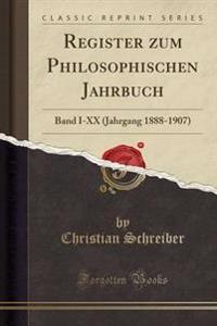 Register Zum Philosophischen Jahrbuch