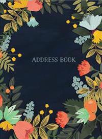 Modern Floral Large Address Book