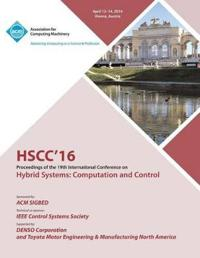 Hscc 16 19th ACM International Conference on Hybrid Systems