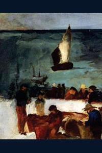 """Seascape at Berck Fishing Boats and Fishermen"" by Edouard Manet - 1873: Journal"