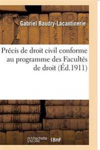 Pr�cis de Droit Civil. 1, Pr�cis de Droit Civil