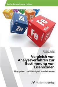 Vergleich Von Analyseverfahren Zur Bestimmung Von Eisenoxiden