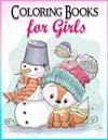 Coloring Books for Girls: Gorgeous Coloring Book for Girls: The Really Best Relaxing Colouring Book for Girls 2017 (Cute, Animal, Penguin, Panda