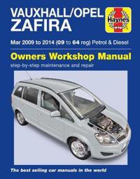 Vauxhall/opel zafira petrol & diesel owners workshop manual 09-14