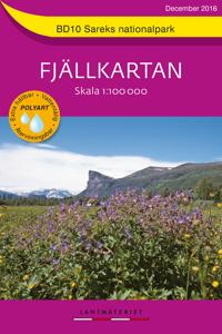 BD10 Sareks Nationalpark Fjällkartan : Skala 1:100000