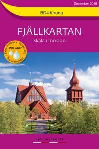 1BD4 Kiruna Fjällkartan : Skala 1:100000