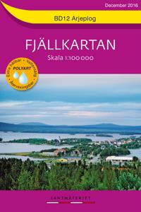 Bd12 Arjeplog Fjallkartan Skala 1 100000 Kirjat Kartta