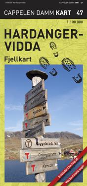 Hardangervidda: fjellkart