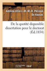 de la Quotite Disponible