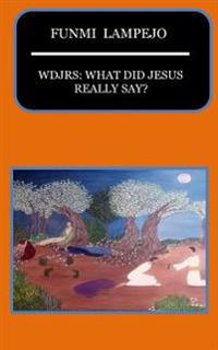 Wdjrs: What Did Jesus Really Say?