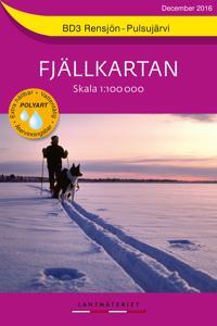 BD3 Rensjön-Pulsujärvi Fjällkartan : 1:100000 -  pdf epub