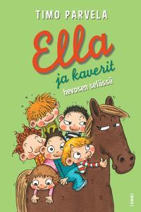 Ella ja kaverit hevosen selässä