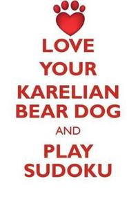 Love Your Karelian Bear Dog and Play Sudoku Karelian Bear Dog Sudoku Level 1 of 15