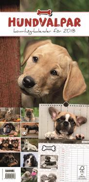 Hundvalpar kom-ihåg-kalender 2018