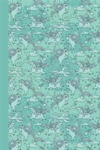 Journal: Baby Pegasus (Aqua) 6x9 - Lined Journal - Writing Journal with Blank Lined Pages