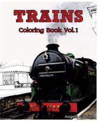 Trains: Coloring Book (Vol.1): Design Coloring Book