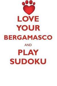 Love Your Bergamasco and Play Sudoku Bergamasco Shepherd Sudoku Level 1 of 15
