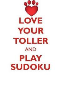 Love Your Toller and Play Sudoku Nova Scotia Duck-Tolling Retriever Sudoku Level 1 of 15