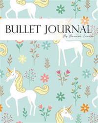 Bullet Journal-muistikirja, Pisteeelinen ja viivallinen, suuri koko,  yksisarvinen sininen: