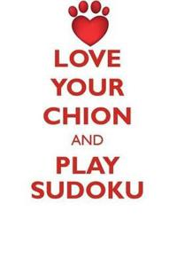 Love Your Chion and Play Sudoku Chion Sudoku Level 1 of 15