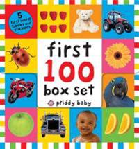 First 100 PB Box Set (5 Books): First 100 Words; First 100 Animals; First 100 Trucks and Things That Go; First 100 Numbers; First 100 Colors, Abc, Num